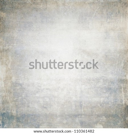 old grey/blue grunge paper background texture - stock photo