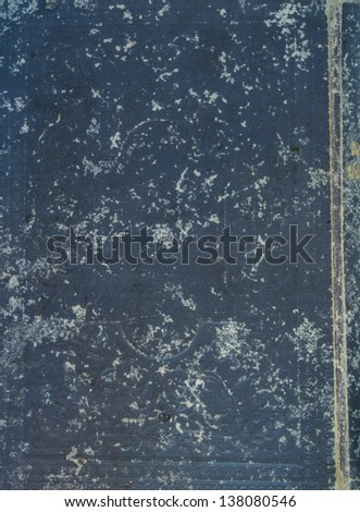 Old grey textile cover of hand-written book isolated on white background - stock photo