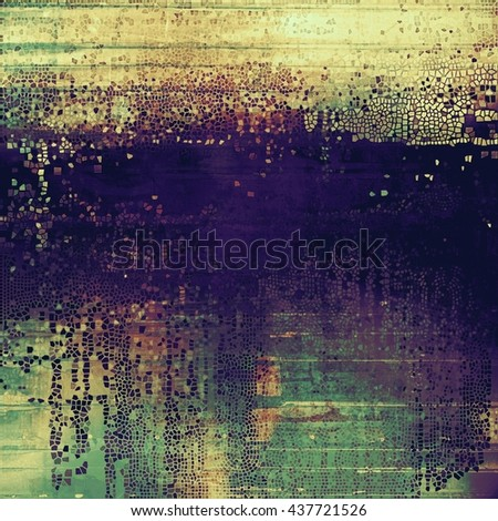 Old, grunge background or damaged texture in retro style. With different color patterns: yellow (beige); brown; green; blue; purple (violet) - stock photo