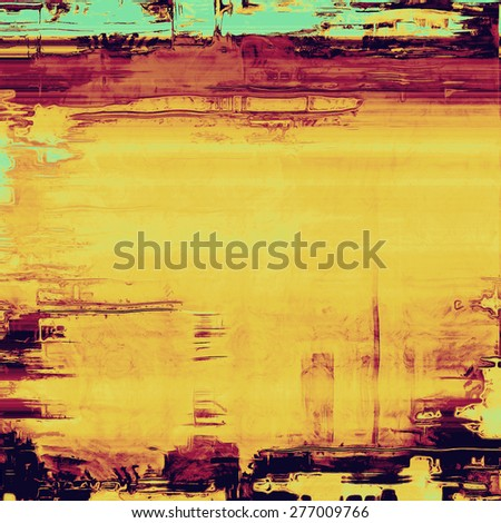Old, grunge background texture. With different color patterns: brown; purple (violet); blue; yellow (beige) - stock photo
