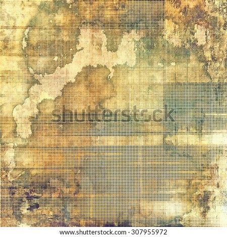Old, grunge background texture. With different color patterns: yellow (beige); brown; gray; green - stock photo