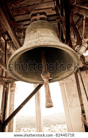 Old grunge bell - stock photo