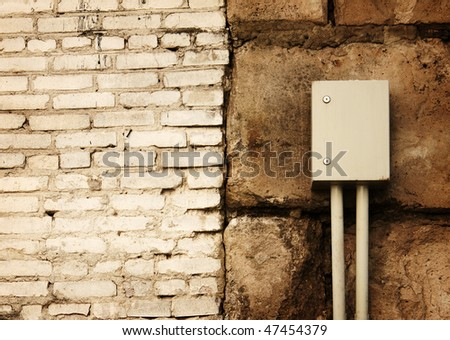 old grunge brick brown wall texture