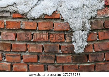 Old grunge brick wall background, Retro effect - stock photo