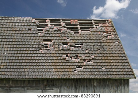 old grunge building - stock photo