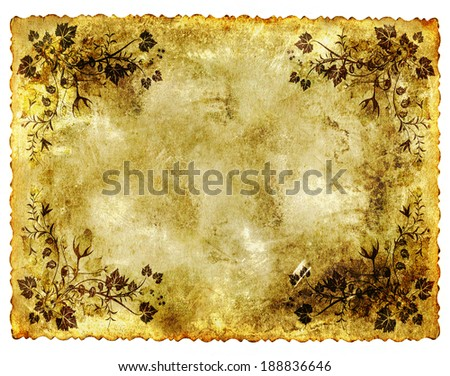 old grunge conceptual paper background with vintage retro style  - stock photo