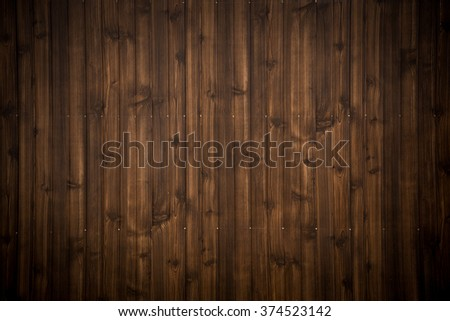 Old grunge dark brown wood plank pattern with beautiful abstract surface, use for texture, background, backdrop or design element - stock photo