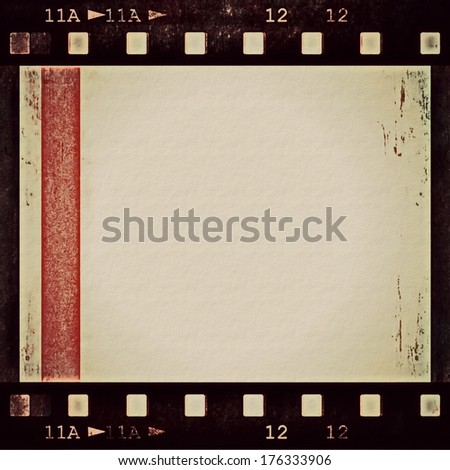old grunge film strip background - stock photo