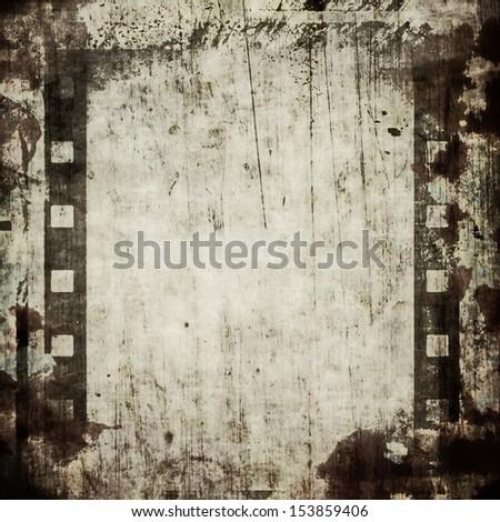 old grunge film strip frame background - stock photo