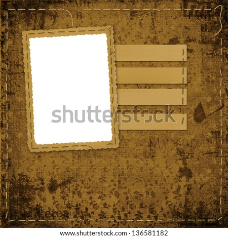 Old Grunge Frames On Ancient Paper Stock Illustration 136581182 ...