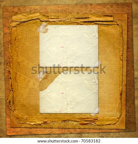 Old Grunge Frames On Ancient Paper Stock Illustration 70583182 ...