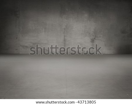 Old grunge gray interior - stock photo