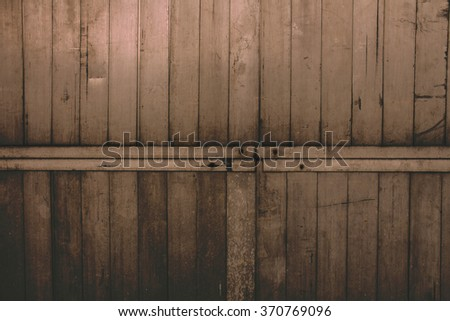 Old grunge metal plate Railings the background
