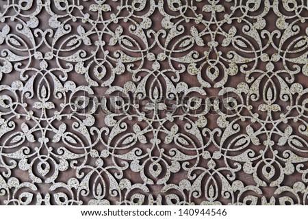 Old grunge metal texture pattern art background - stock photo