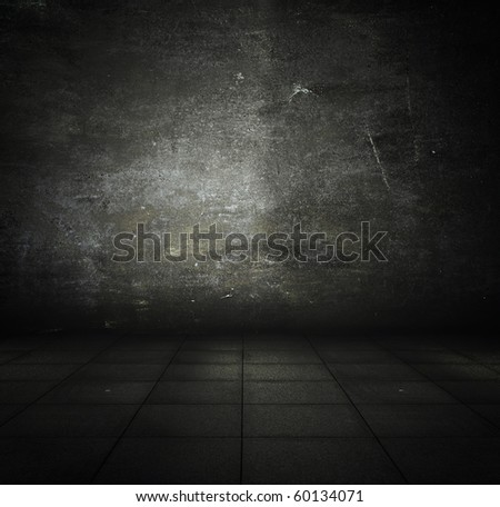 old grunge metallic interior - stock photo