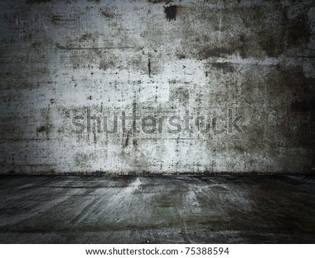 old grunge metallic slum - stock photo
