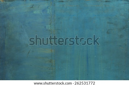 Old grunge painted wood texture - stock photo