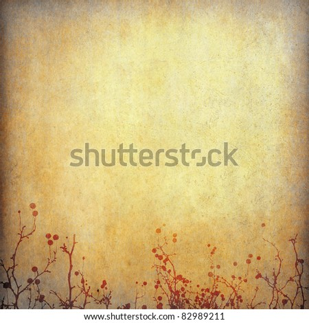old grunge paper background with abstract shape and space