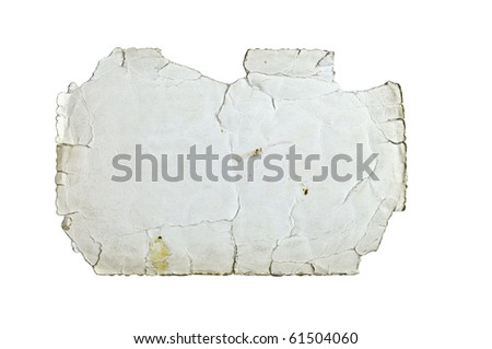 Old grunge paper isolated on white - stock photo