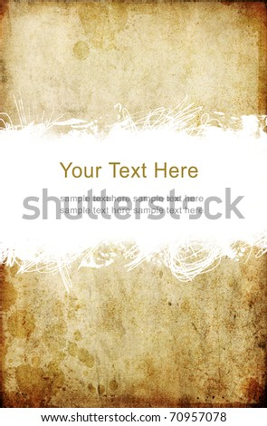 old grunge paper with scratch space and sample text - stock photo