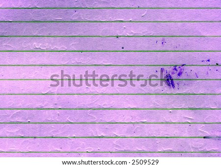 Old grunge purple paper with lines - stock photo