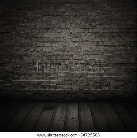 old grunge room - stock photo