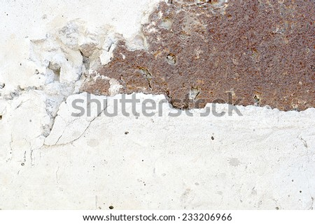 old grunge white wall - stock photo