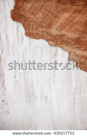 Old grunge wooden background with cracked wood board