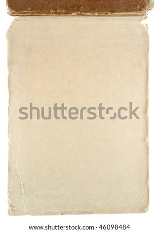 Old grungy notepad isolated on white - stock photo