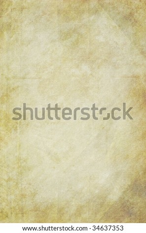 Old grungy paper background. Textured surface. - stock photo