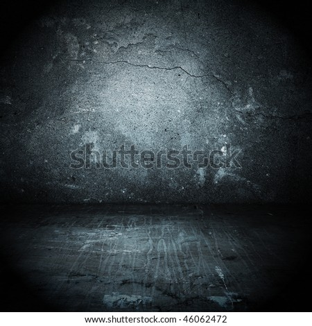 old grungy room - stock photo