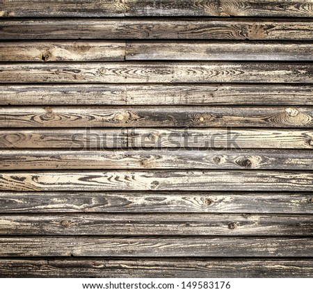 old grungy wooden wall - stock photo