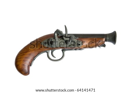 old gun - stock photo
