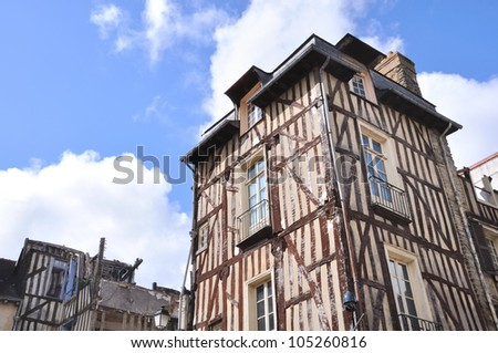 old half-timbered building
