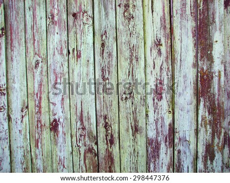 old hard wood plank wall background texture - stock photo