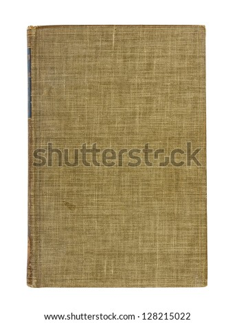 Old hardcover book isolated on white background - stock photo