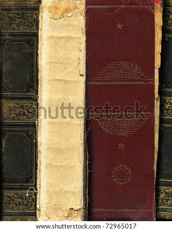 old hardcover books - stock photo