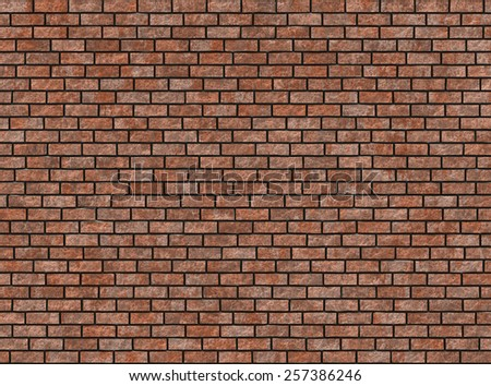 old hi-res red small brick wall pattern - stock photo
