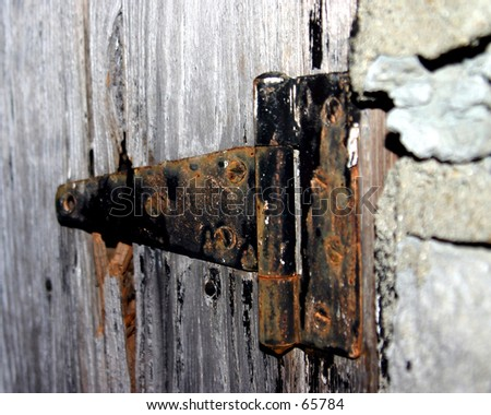 Old Hinge - stock photo