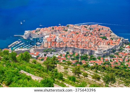 Old historic town of Dubrovnik, Croatia. - stock photo