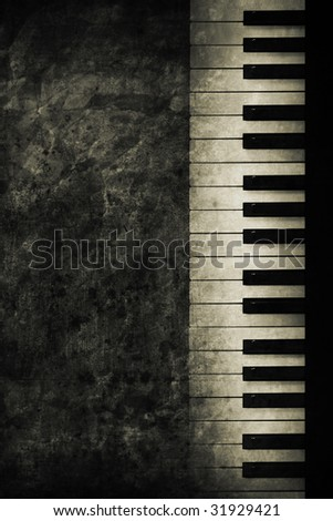 old historically keyboard in retro design look - stock photo