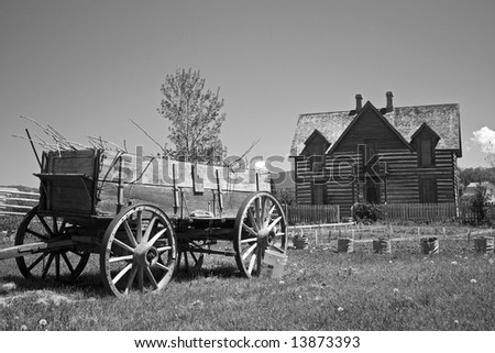 Old Homestead Desaturated - stock photo