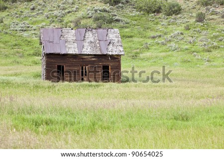 Old Homestead in field, near Milner, Colorado