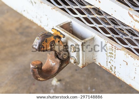 old hook of truck in close up - stock photo
