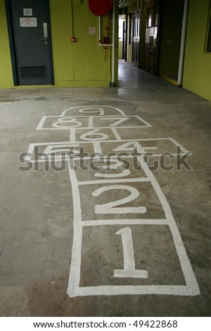 Old hopscotch in Hong Kong