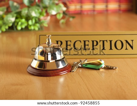 old hotel bell - stock photo