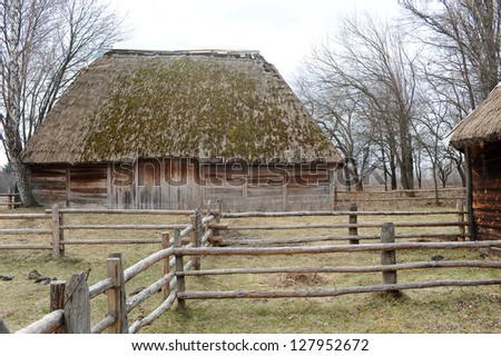 old house - stock photo