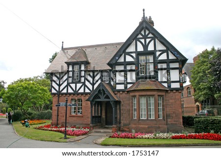 Old House in Chester England - stock photo