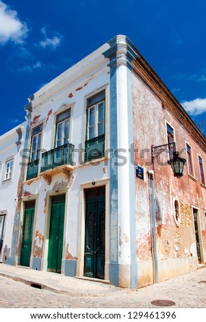 Old house in Faro, Portugal. - stock photo