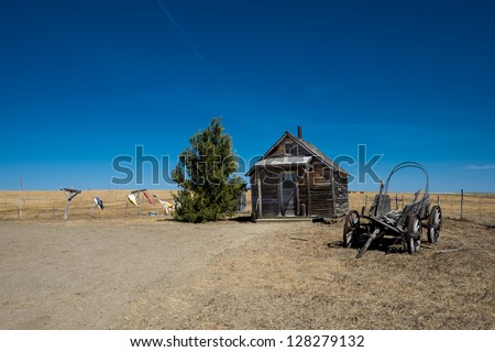 Old House in Ghost town - stock photo